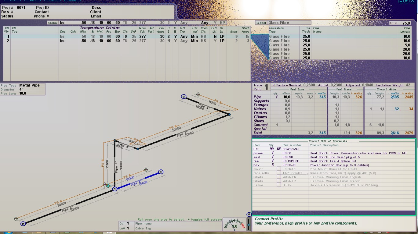 Drexan Designer professional trace heating design software